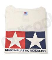 67149 New Official Tamiya Girls Short Sleeve Long Length Cream T-shirt Genuine