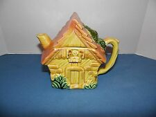Vintage Ceramic Country Cottage Teapot Japan