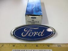 """FORD 1992/1995 TAURUS SHO(ONLY) """"PLATE"""" NAME, CHROME & BLUE OVAL ON FRONT BUMPER"""