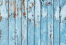 7x5ft Background Vinyl Photo Backdrop Studio Props Peeling Blue Wood Board Plank