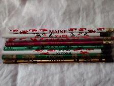 2 Souvenir pencils, Maine Acadia National Park,Puffins,Lighthouse,Lobster,Moose