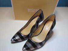 NIB Michael Kors Black Silver Sequin High Heel Classic Pump 055M