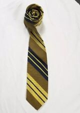 Vintage tie striped Necktie blue and yellow polyester Racine menswear
