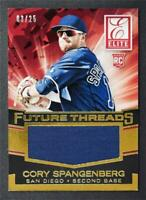 2015 Elite Future Threads Prime #7 Cory Spangenberg Jersey /25 - NM-MT