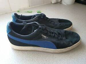 PUMA SUEDE CLASSIC TRAINERS BLACK UK 10
