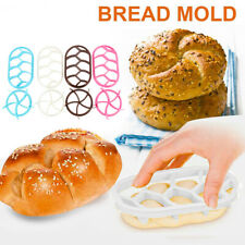 Plastic Pastry Cutter Dough Cookie Press Homemade Bread Roll Stamp Baking Mold