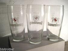 Bière KRONENBOURG Lot 6 ANCIENS verre s Collection 25cl