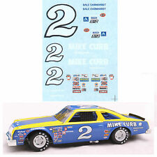 #2 Dale Earnhardt 1980 Oldsmobile 1/64 scale decal AFX Lifelike Autoworld Tyco