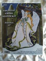 Holly Angel counted cross stitch stocking kit Design Works Sealed