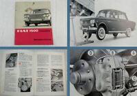 Fiat 1500 Limousine PKW Betriebsanleitung Bedienungsanleitung 11/1964