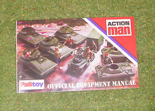 VINTAGE ACTION MAN 40th OFFICIAL EQUIPMENT MANUAL ( TANKS & JEEP COVER )