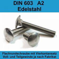 M8 DIN 603 A2 Edelstahl Schlo�Ÿschrauben Flachrund-Schrauben Flach Stahl M8x