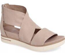 Eileen Fisher Size 7 Sport Platform Sandals Shoes Tumbled Nubuck Barley $195