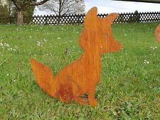Edelrost Gartenstecker Beetstecker Fuchs  Tier