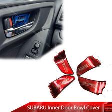 For Subaru Impreaza WRX STI XV Inside Door Bowl Cover Trim Red Chrome 12-19