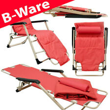 B-Ware Faltbare Campingliege 178cm Gartenliege Sonnenliege 150kg Strandliege