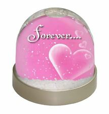 Pink Hearts 'Forever' Sentiment Photo Snow Globe Waterball Stocking Fi, LOVE-2GL