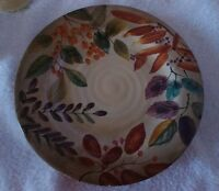 Home Trends SHADOWWOOD Dinner Plate  with a tiny chip