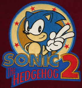 VINTAGE SONIC THE HEDGEHOG 2 1990s OFFICIAL EMBROIDERED PATCH CLASSIC JACKET 90s