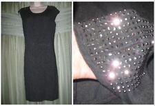 M/L* Gray Grey EXPRESS Studded Shoulder Tube Pencil Knee Level Knit Formal Dress