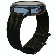 Quick Release Nylon Strap Band For Garmin Vivoactive 3 / Forerunner 645 Black