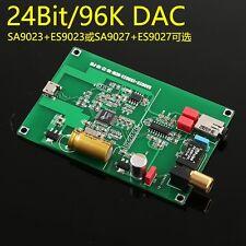 SA9023 + ES9023 / USB to SPDIF I2S coaxial /  DAC Amplifier 24bit 96K