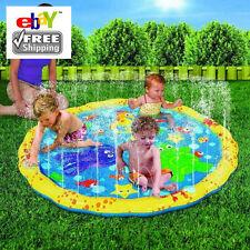 Inflatable Water Sprinkle Splash Play Mat Swimming baby kids fun Pool summer toy