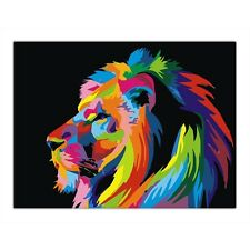 Lion DIY Digital Oil Painting Kit Paint by Numbers on Canvas Home Decor