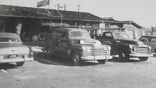 "12 By 18"" Black & White Picture 1952 GM Trucks, TV Store Display"
