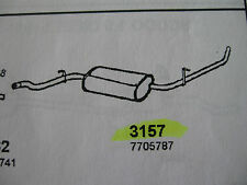 Marmitta posteriore Fiat Fiorino 1.7 1700cc Diesel dal 1988 al 1993 art. 3157