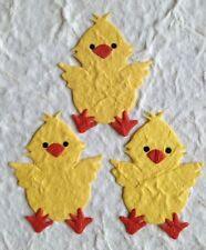 10 Chicks chick baby Chicken Diecut Handmade Mulberry Paper Easter Scrapbooking