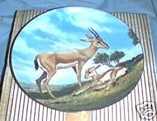 The Slender-Horned Gazelle Endangered Species Plate #5