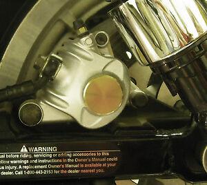 BQuazy Flat Brake Caliper Insert in Bronze for 2004 to 2013 Sportster Models