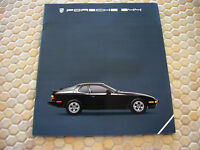 PORSCHE ORIGINAL OFFICIAL 944 PRESTIGE SALES BROCHURE 1985.5 USA EDITION