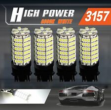 4x 3157/3156 6000K Bright White 120 SMD Chip Turn Signal Blinkers LED Car Bulbs