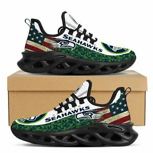 Seattle Seahawks Sneakers Shoes Men's Mesh Trail Running Training Shoes
