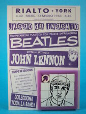 THE BEATLES * JOHN LENNON * SLIDE SLIDING PUZZLE SKILL GAME CARDED ARGENTINA