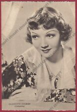 CLAUDETTE COLBERT 22 ATTRICE ACTRESS ACTRICE CINEMA MOVIE -FRANCE Cartolina 1939