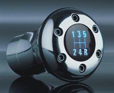 POMMEAU CHROME LED BLEU 5 VITESSES AUDI 80 100 200 A1 A2 A3 A4 B5 B6 B7 RS4 S4