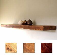 Rustic Handmade Chunky Solid Wood Floating Shelves Industrial Wooden Depth 22cm
