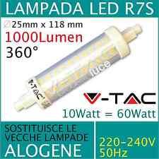 LAMPADINA SMD LED 360° R7S 10W LUCE CALDA- FREDDA V-TAC  PER FARI FARETTI 118MM