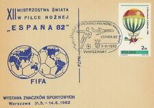 Poland postmark WARSZAWA - sport football FIFA World Cup airplane (analogous)