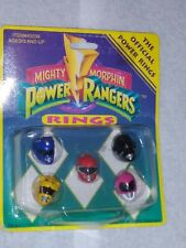 1993 MMPR Power Rangers Ring Set of 5 Rings NIB NOS NEW