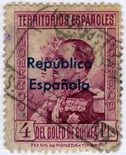 GUINEA 242 USADO SELLOS DE 1931 SOBREIMPRESION REPUBLICA ESPAÑOLA