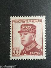 MONACO 1937-39, timbre 159, PRINCE LOUIS II, neuf**, VF MNH STAMP CELEBRITY