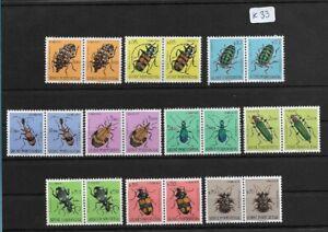 SMT, 1953, GUINE PORTUGUESA, Mi 281/90, Beetles set in paire, MNH