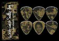 6 JIMI Hendrix West Coast Seattle Boy Anthology Collectible Guitar Picks Tin