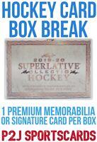 2019/20 LEAF Superlative Hockey Hobby Box BREAK 1 Random Team - Break 3044