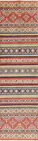 Oriental Kazak Wool Runner Rug Geometric Persian Hand-Knotted Carpet 3 x 10 NEW