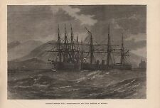 1873 MADEIRA - COLLISION BETWEEN HMS NORTHUMBERLAND AND HMS HERCULES